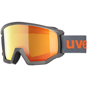 UVEX Athletic FM Occhiali Maschera, anthracite/mirror orange